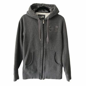 Under Armour Grey Zip Hoodie Sweater small